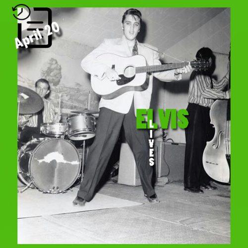 الویس در ضلع شمالی سالن بزرگ شهر فورت ورث، تگزاس چنین روزی 20 آوریل 1956