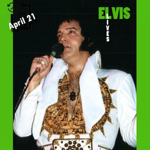 الویس در سالن بزرگ، گرینزبورو، کارولینای شمالی چنین روزی 21 آوریل 1977