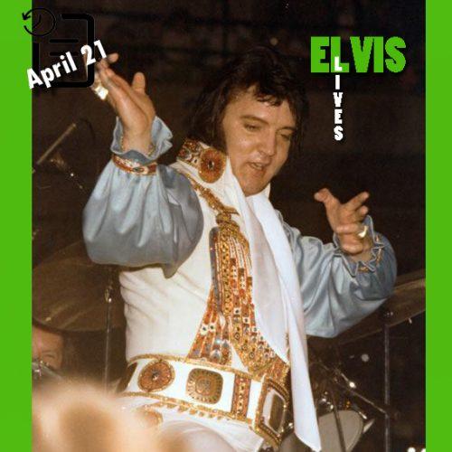 الویس در کمپر آرنا، کانزاس سیتی، میسوری چنین روزی 21 آوریل 1976