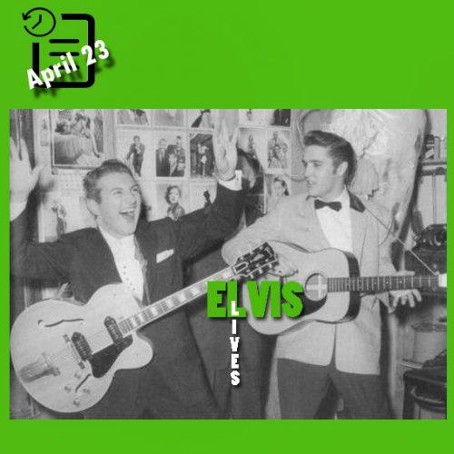 الویس در Venus Room, New Frontier Hotel، لاس وگاس چنین روزی 23 آوریل 1956