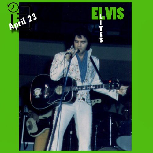 الویس در تالار سرپوشیده مک نیکولز شهر دنور، کلرادو چنین روزی 23 آوریل 1976