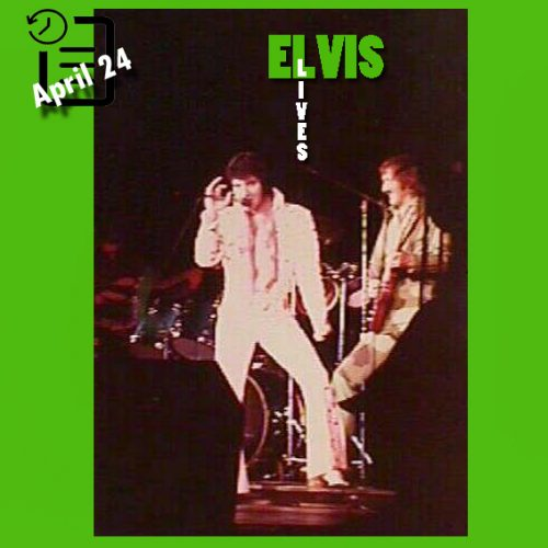 الویس در مرکز کنوانسیون آناهایم، شهر آناهایم، کالیفرنیا چنین روزی 24 آوریل 1973