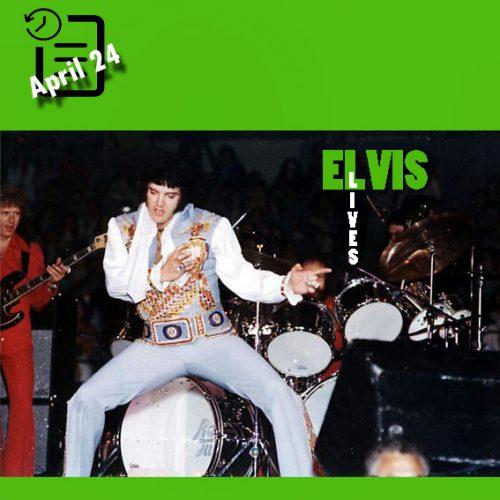 الویس در سالن ورزشی، سن دیگو، کالیفرنیا چنین روزی 24 آوریل 1976