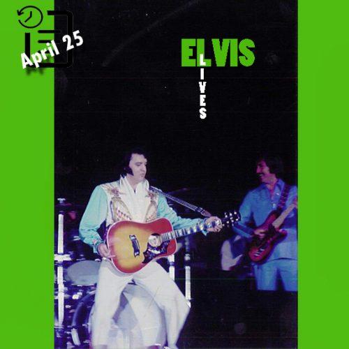 الویس در ساعت 2:30 بعد از ظهر در سالن سرپوشیده، لانگ بیچ، کالیفرنیا چنین روزی 25 آوریل 1976