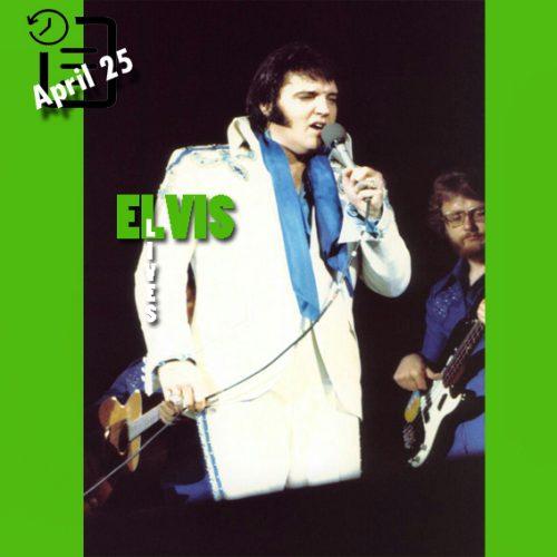 الویس در Veterans Memorial Coliseum، شهر جکسون ویل، فلوریدا چنین روزی 25 آوریل 1975