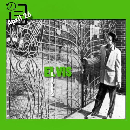 الویس  در جلو دروازه جدید گریس لند آوریل 1957
