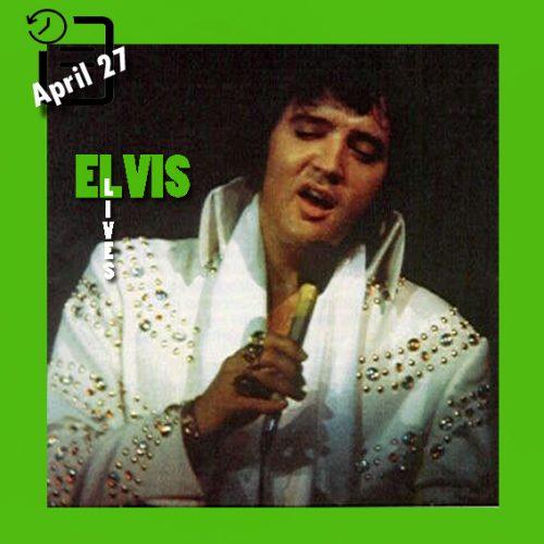 الویس در Memorial Coliseum، شهر پورتلند،چنین روزی 27 آوریل 1973