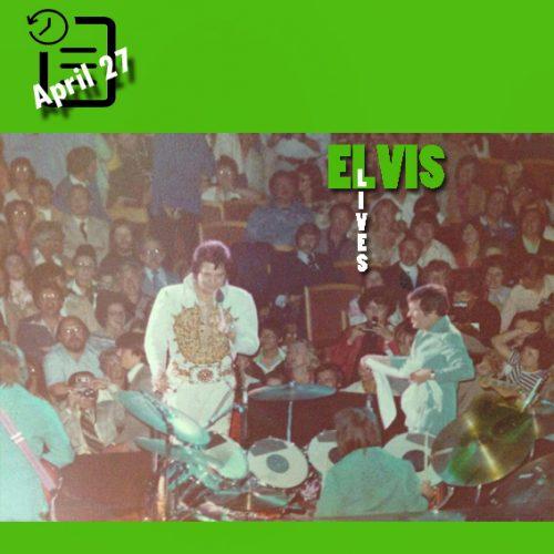 الویس در Auditorium Arena ، شهر میلواکی، ویسکانسین ، چنین روزی 27 آوریل 1977