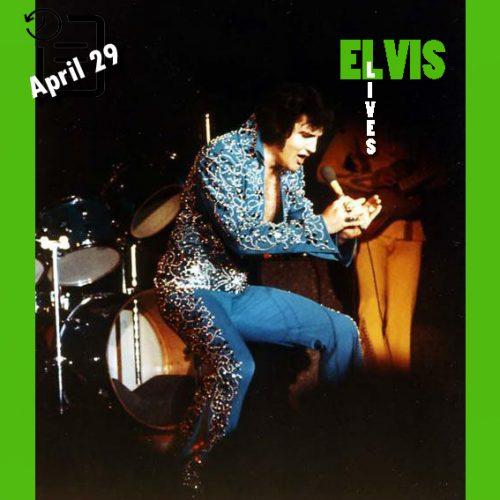 الویس در تالار مرکزی، شهر سیاتل، واشنگتن در چنین روزی 29 آوریل 1973