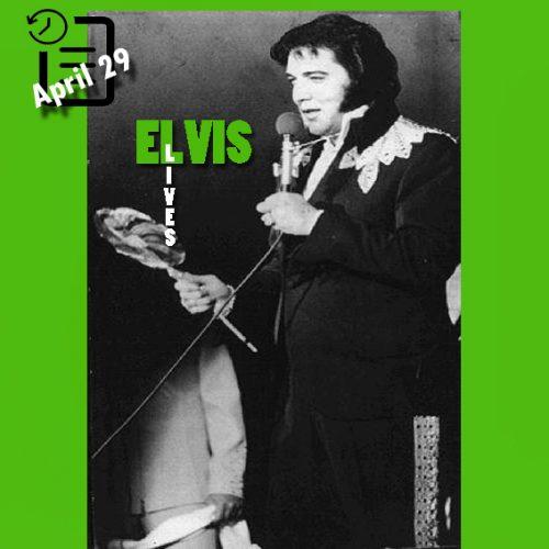 الویس در مرکز ورزشی دانشگاه Middle Tennessee State، شهر مورفیس بورو، ایالت تنسی در چنین روزی 29 آوریل 1975