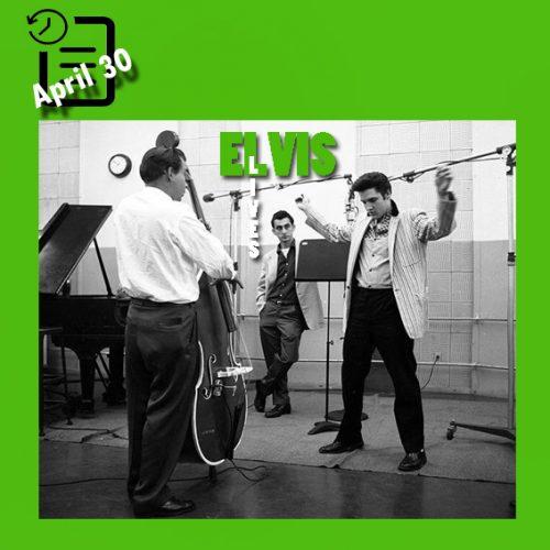 الویس در استودیو در حال ضبط موسیقی فیلم Jailhouse Rock چنین روزی 30 آوریل 1957