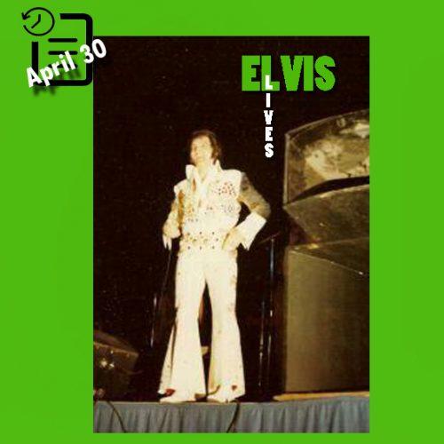الویس در سالن بزرگ دنور ، شهر دنور، ایالت کلرادو در چنین روزی 30 اوریل 1973