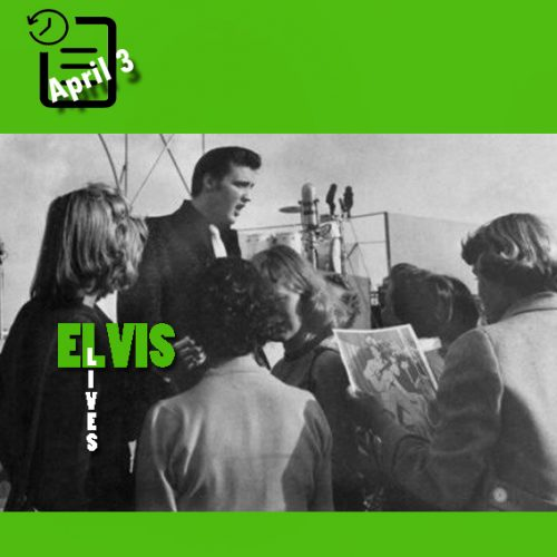 الویس همراه با دوستدارانش در شهر سن دیگو، کالیفرنیا چنین روزی 3 آوریل 1956