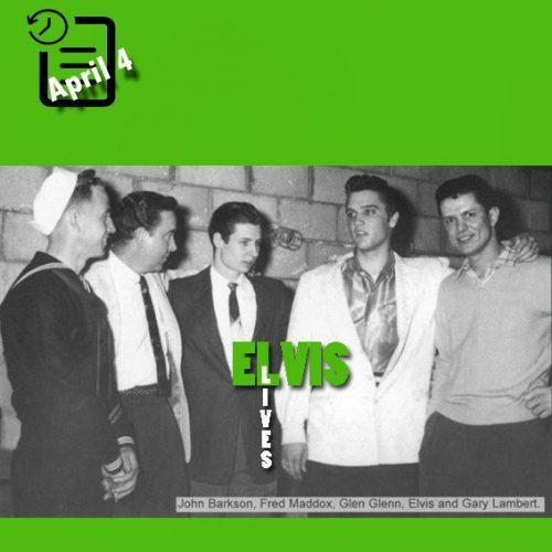 الویس در سن دیگو کالیفرنیا چنین روزی 4. آوریل 1956