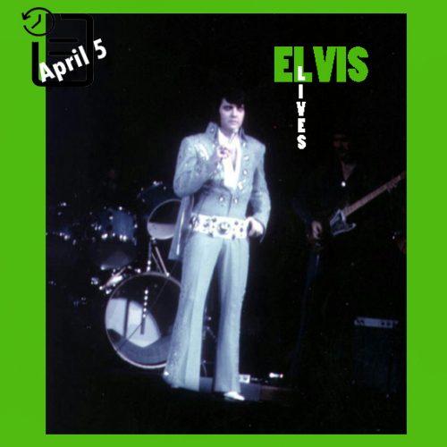 الویس در تالار یادبود شهر بوفالو، نیویورک در چنین روزی 5 آوریل 1972