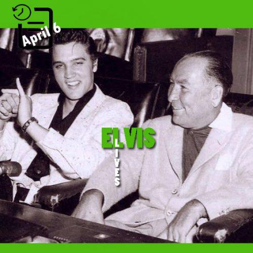الویس و هال والیس در استودیوی پارامونت چنین روزی 6 آوریل 1956