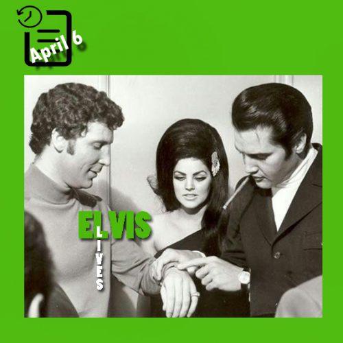 تام جونز ، پریسلا و الویس در هتل فلامینگو لاس وگاس چنین روزی 6 آوریل 1968