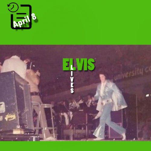 الویس در اجرای ساعت 8:30 شب در مرکز ورزشی استوکلی دانشگاه تنسی، شهر ناکسویل تنسی چنین روزی 8 آوریل 1972