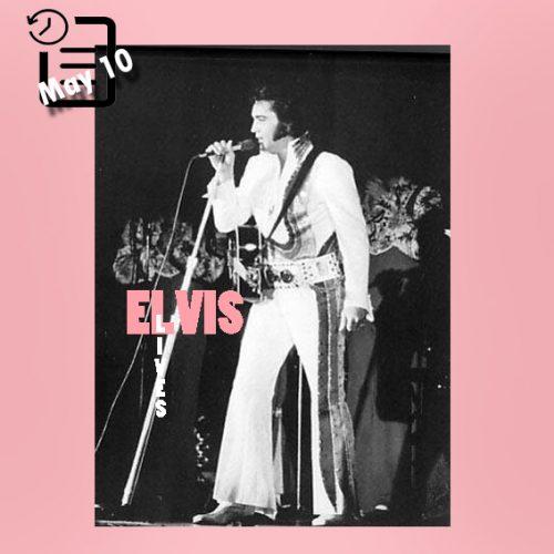 الویس در سالن سوینگ، شهر سان برناردینو، کالیفرنیا چنین روزی 10 مه 1974