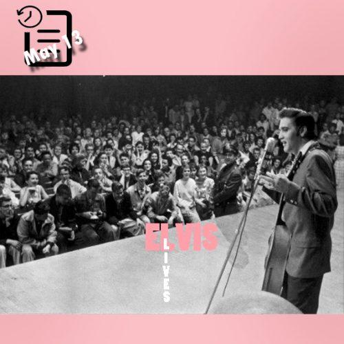 الویس در سالن سنت پل شهر مینه سوتا چنین روزی 13 مه 1956