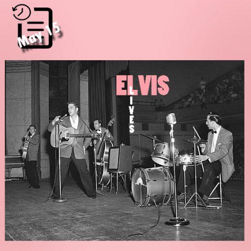 الویس در سالن الیس ، ممفیس چنین روزی 15 مه 1956
