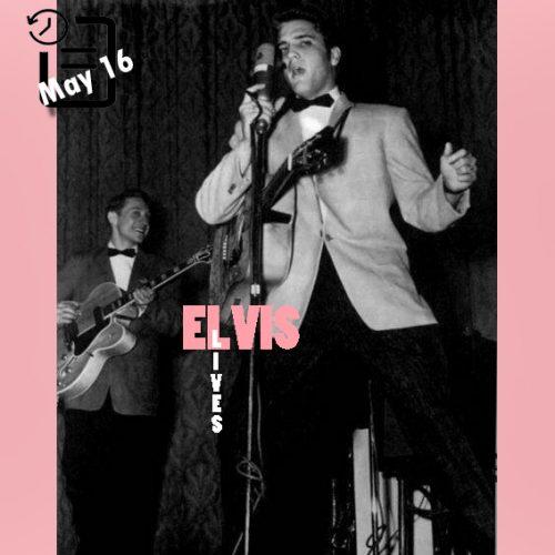 الویس در سالن یادبود رابینسون ، شهر لیتل راک، آرکانزاس چنین روزی 16 مه 1956
