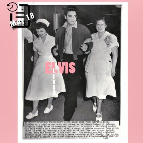 الویس در بیمارستان (سروهای لبنان) Cedars of Lebanon Hospital مه 1957