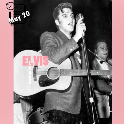 الویس در تالار کنفرانس مدنی شهر اوماها، نبراسکا چنین روزی 20 مه 1956