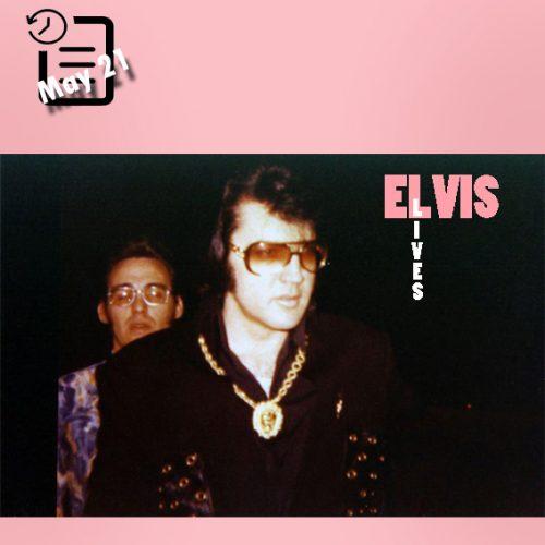 الویس در حال رفتن به استودیو نشویل چنین روزی 21 مه 1971