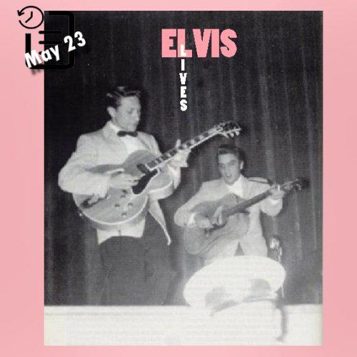 الویس در سالن شهرداری ، شهر سو سیتی ، آیووا چنین روزی 23 مه 1956