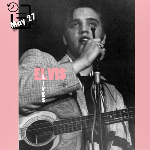 الویس در دانشگاه دیتون فیلدهاوس شهر دیتون، اوهایو اجرای ساعت 8 شب چنین روزی 27 مه 1956