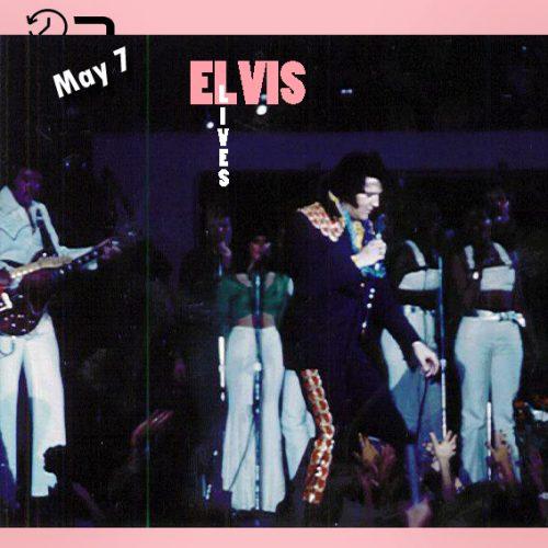 الویس در مرکز ورزشی دانشگاه Middle Tennessee State شهر مورفیس بورو، تنسی در چنین روزی 7 مه 1975