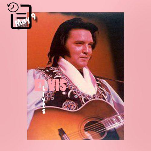 الویس در آخرین اجرای خود در صحرا تاهو شهر استیت لاین، ایالت نوادا چنین روزی 9 مه 1976
