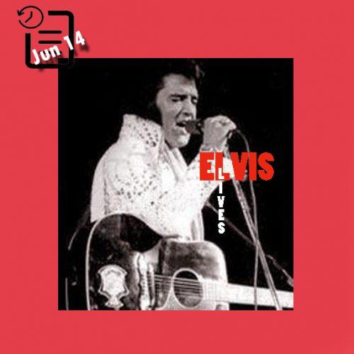 الویس در تالار سرپوشیده میلواکی ،شهر میلواکی، ویسکانسین چنین روزی 14 ژوئن 1972