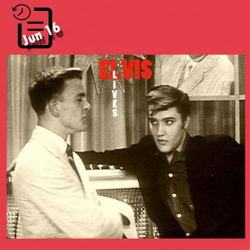 الویس در برنامه رقص در ایستگاه تلویزیون محلی چنین روزی 16 ژوئن 1956