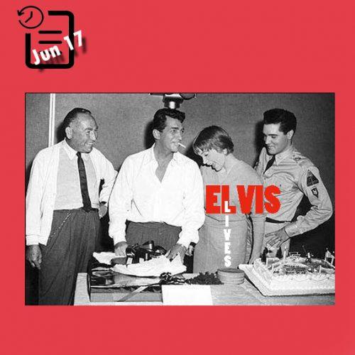 الویس همراه با هال والیس و شرلی مک لین در جشن تولد دین مارتین چنین روزی 17 ژوئن 1960