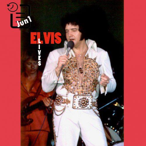 الویس در سالن بزرگ شهر ماکن جورجیا چنین روزی 1 ژوئن 1977