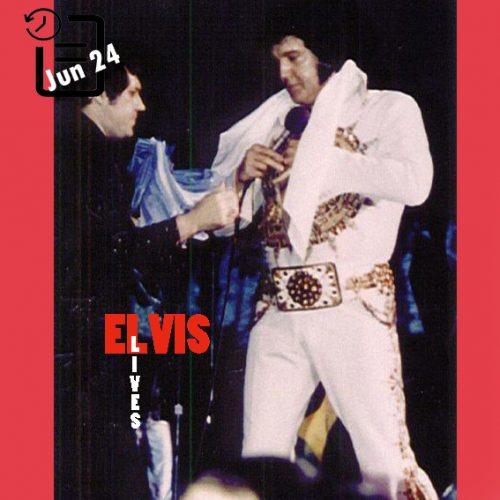الویس در سالن بزرگ شهرستان دان، مدیسون، ویسکانسین چنین روزی 24 ژوئن 1977