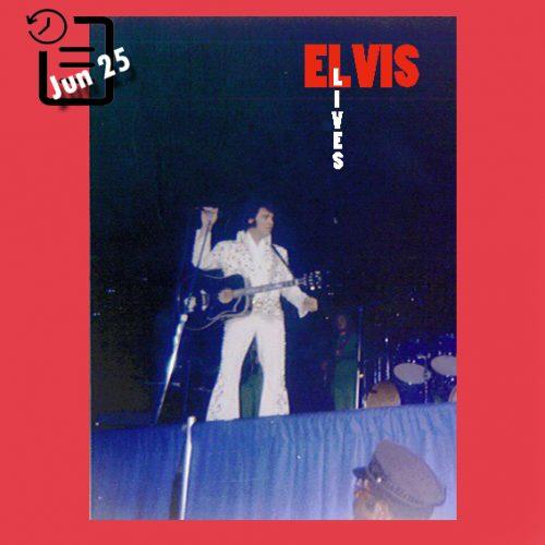 الویس در تالار سرپوشیده مرکز مدنی پیتسبورگ، پنسیلوانیا چنین روزی 25 ژوئن 1973