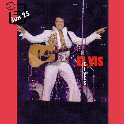 الویس در سالن بزرگ ریورفرانت ، سینسیناتی، اوهایو چنین روزی 25 ژوئن 1977