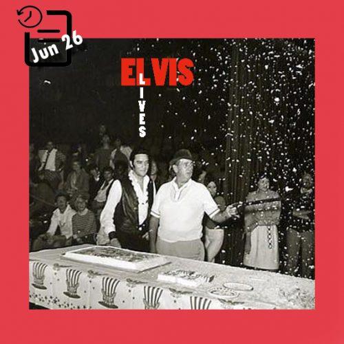 الویس در جشن تولد کلنل تام پارکر چنین روزی 26 ژوئن 1968