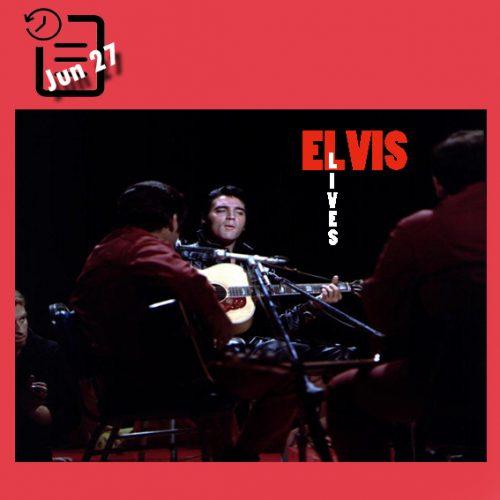 الویس در اجرای زنده در چنین روزی 27 ژوئن 1968