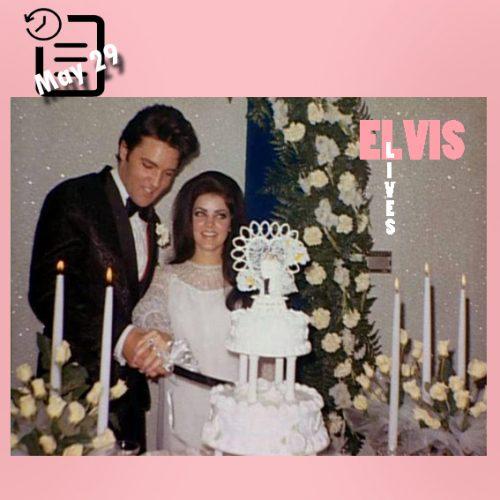 الویس و پریسیلا باری دیگر در لباس عروسی در مهمانی در گریسلند چنین روزی 29 مه 1967