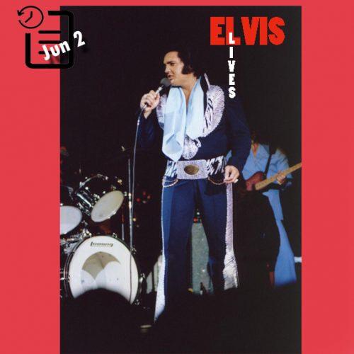 الویس در اجرای بعد ازظهر در سالن شهرداری ، شهر موبیل آلاباما چنین روزی 2 ژوئن 1975