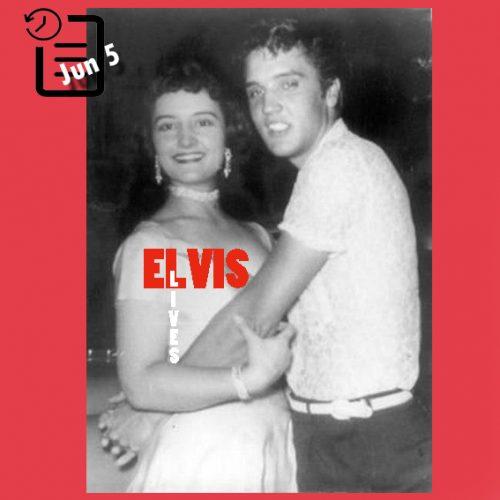 الویس در هوپ فیر پارک، شهر هوپ آرکانزاس چنین روزی 5 ژوئن 1955