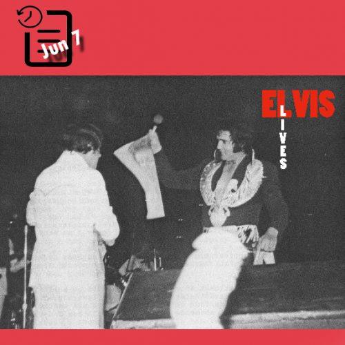 الویس در ساعت  2:30 بعد از ظهر  در سالن بزرگ هرش ، شریوپورت، لوئیزیانا چنین روزی 7 ژوئن 1975