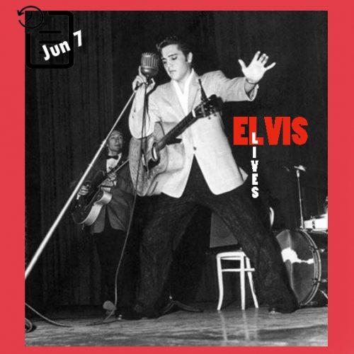 الویس در سالن شهرداری ، لانگ بیچ، کالیفرنیا  چنین روزی 7 ژوئن 1956