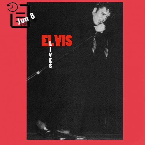 الویس در  سالن شراین ، لس آنجلس  چنین روزی 8 ژوئن 1956