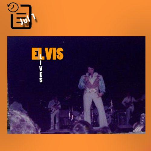 الویس در سالن بزرگ هرش ، شریوپورت، لوئیزیانا چنین روزی اول ژوئیه 1976