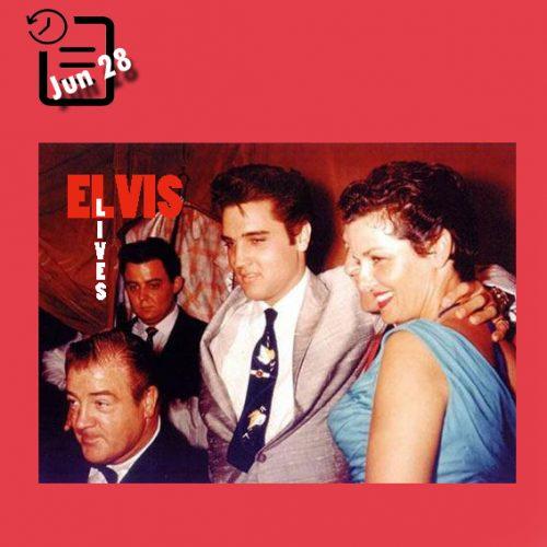 الویس و جین راسل و کمدین معروف لو کاستلو چنین روزی 28 ژوئن 1957